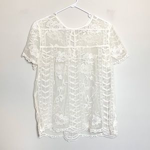 Merano | NWOT White Lace Blouse